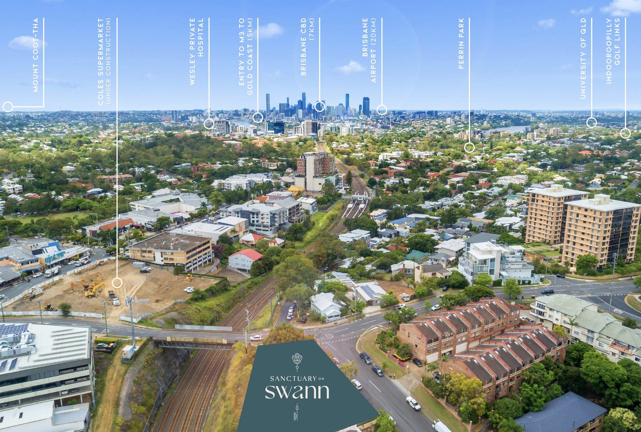 Swann Sanctuary Aerial Map
